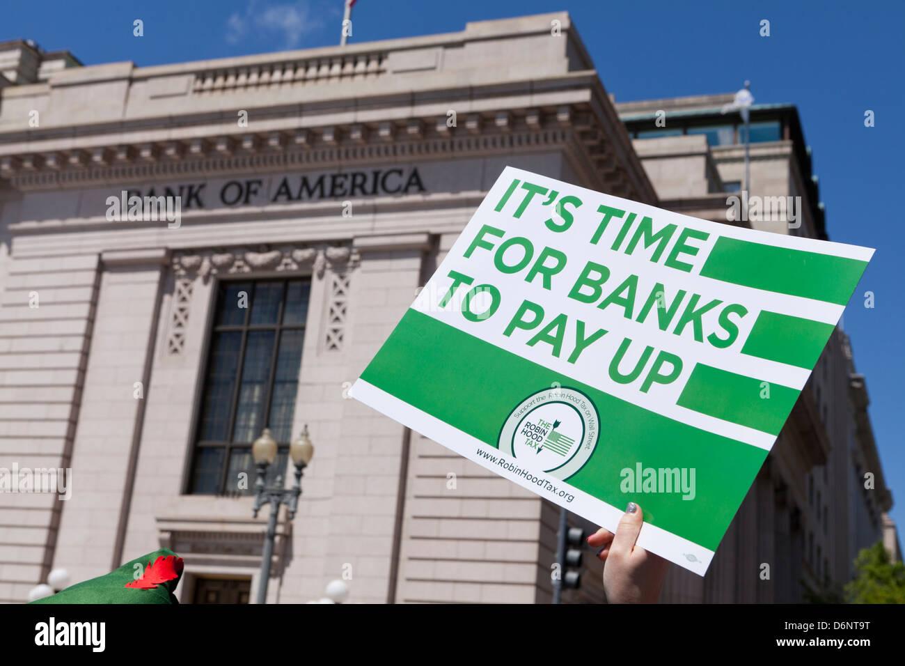 Les Taxe Robin des Bois à Washington DC Photo Stock
