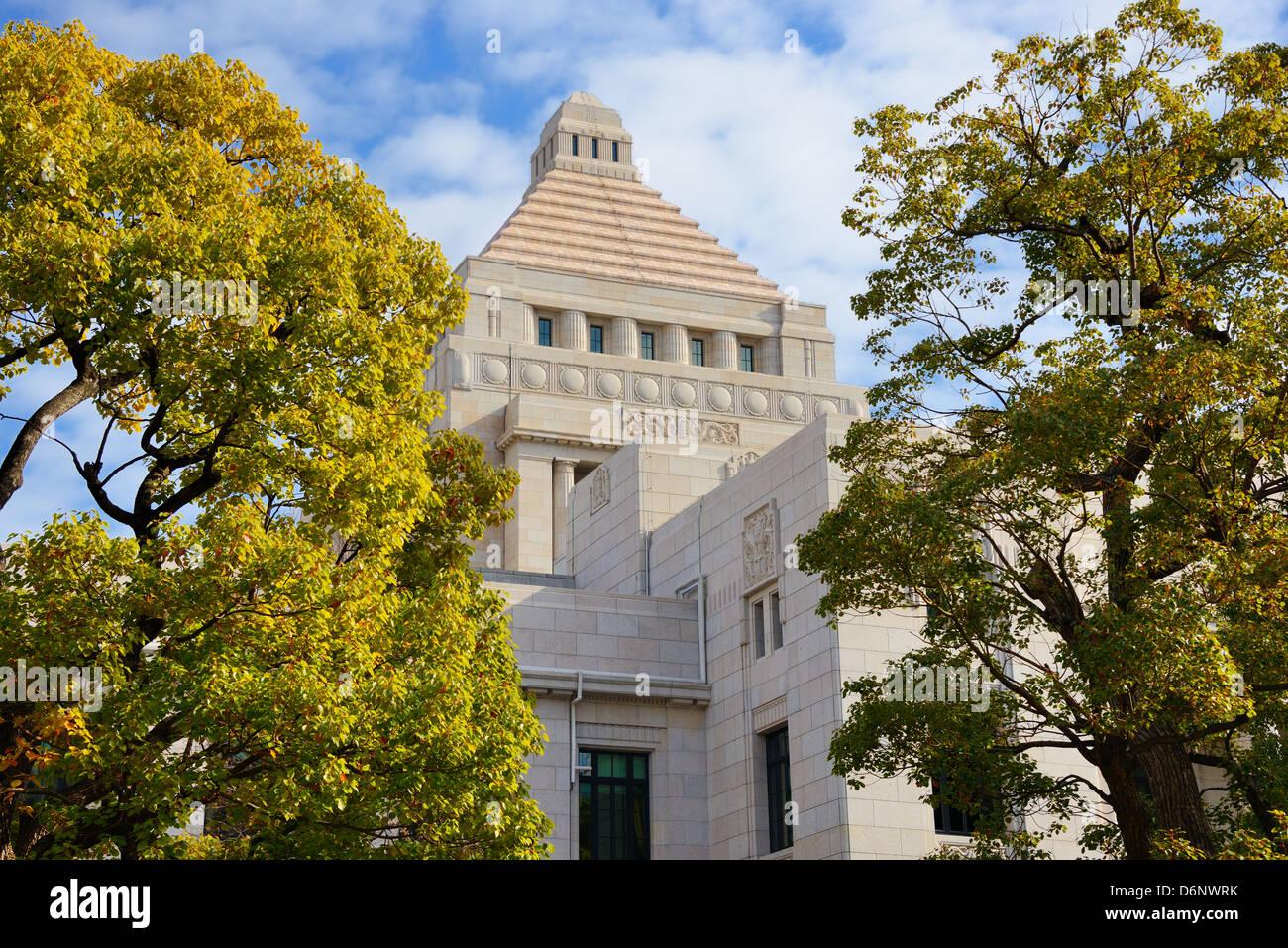 Chambre nationale de la Diète du Japon. Photo Stock