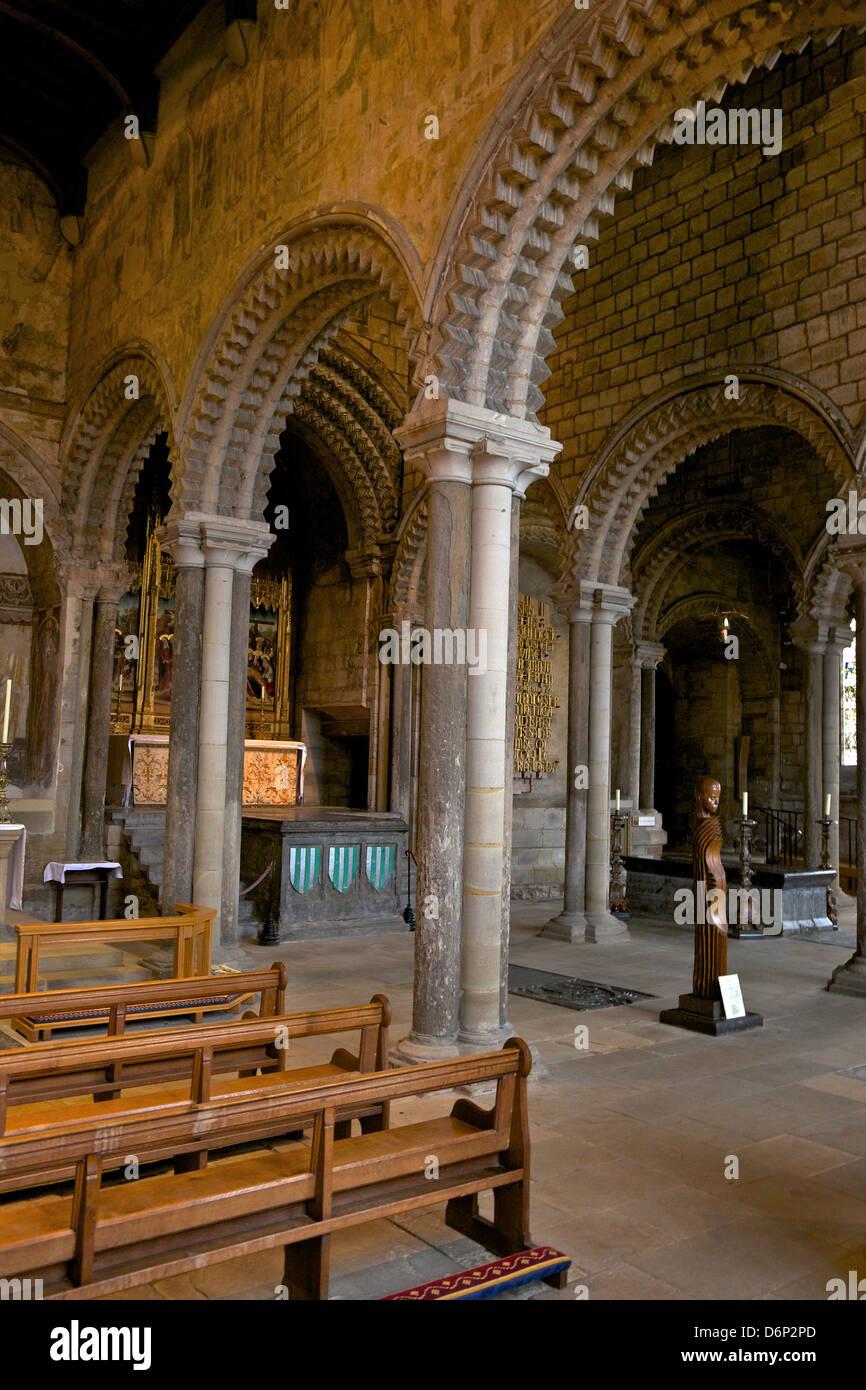 Int rieur de la 12e si cle galil e romane normande chapelle cath drale de durham county durham - Le 12 tavole romane ...