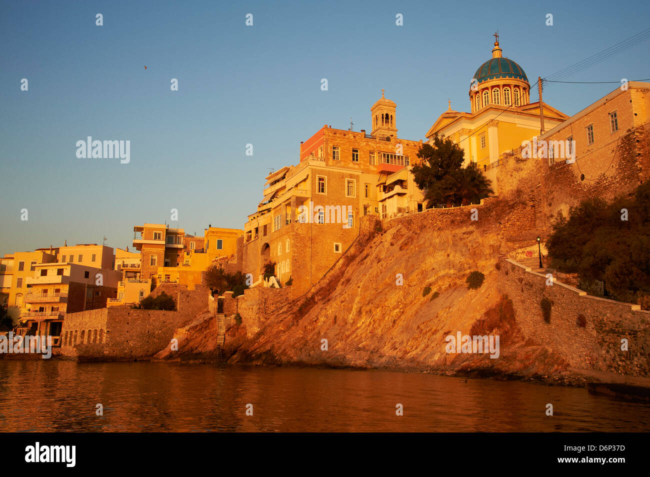 Ermoúpoli (Khora), l'île de Syros, Cyclades, îles grecques, Grèce, Europe Photo Stock