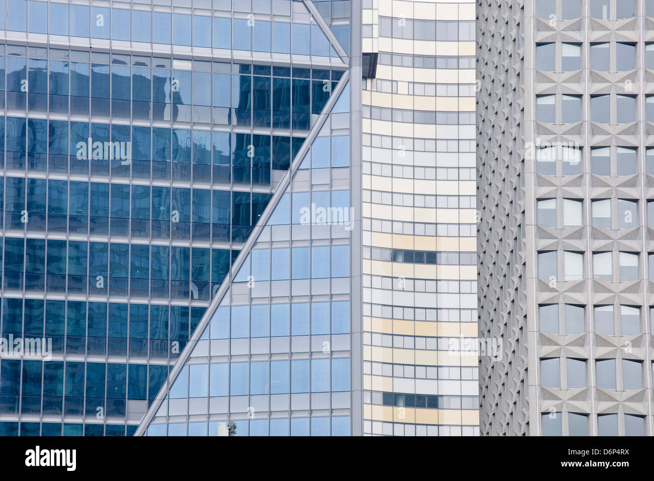 Résumé de bâtiments dans le quartier de la Défense, Paris, France, Europe Photo Stock