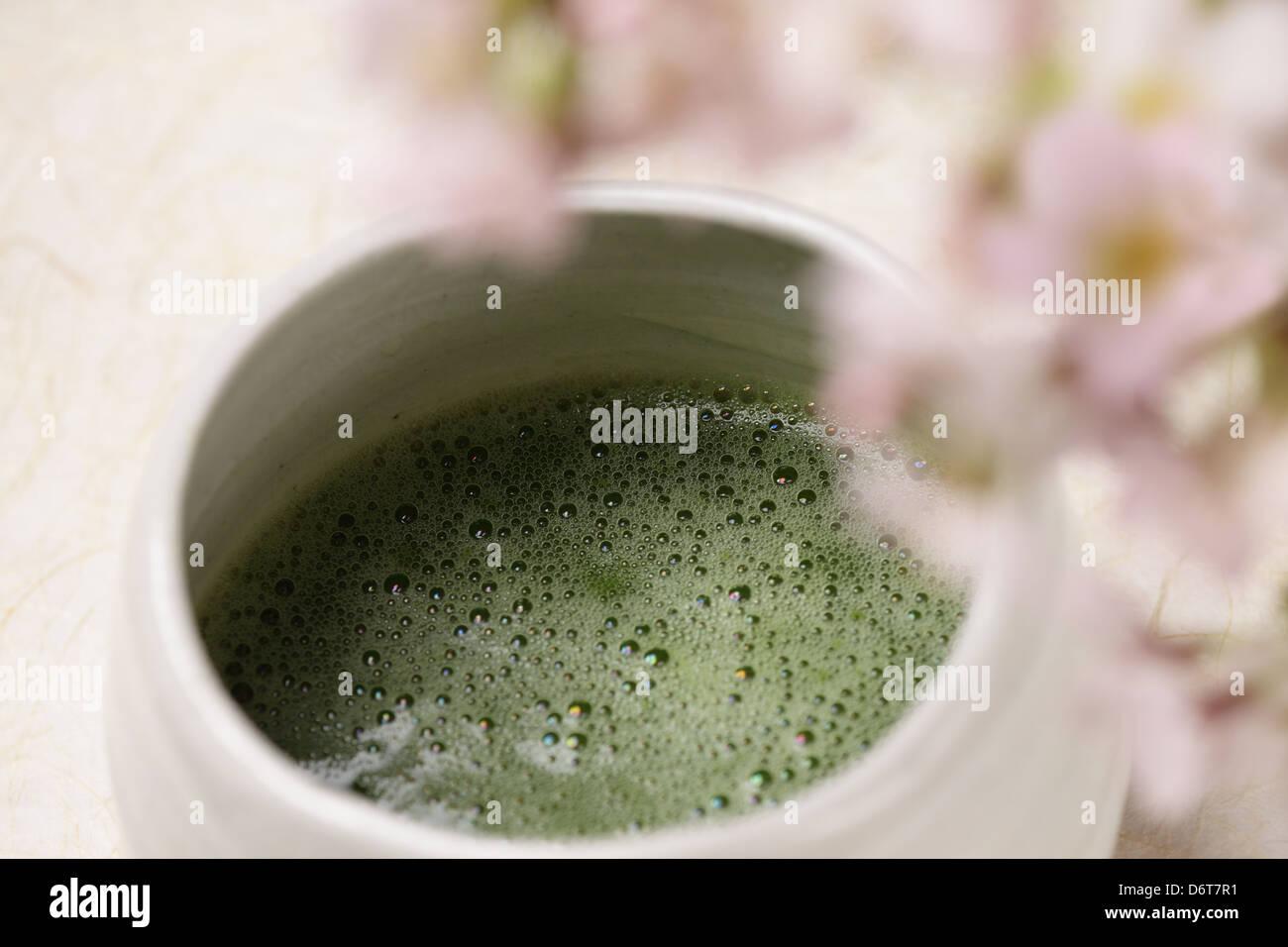 Thé vert matcha Photo Stock