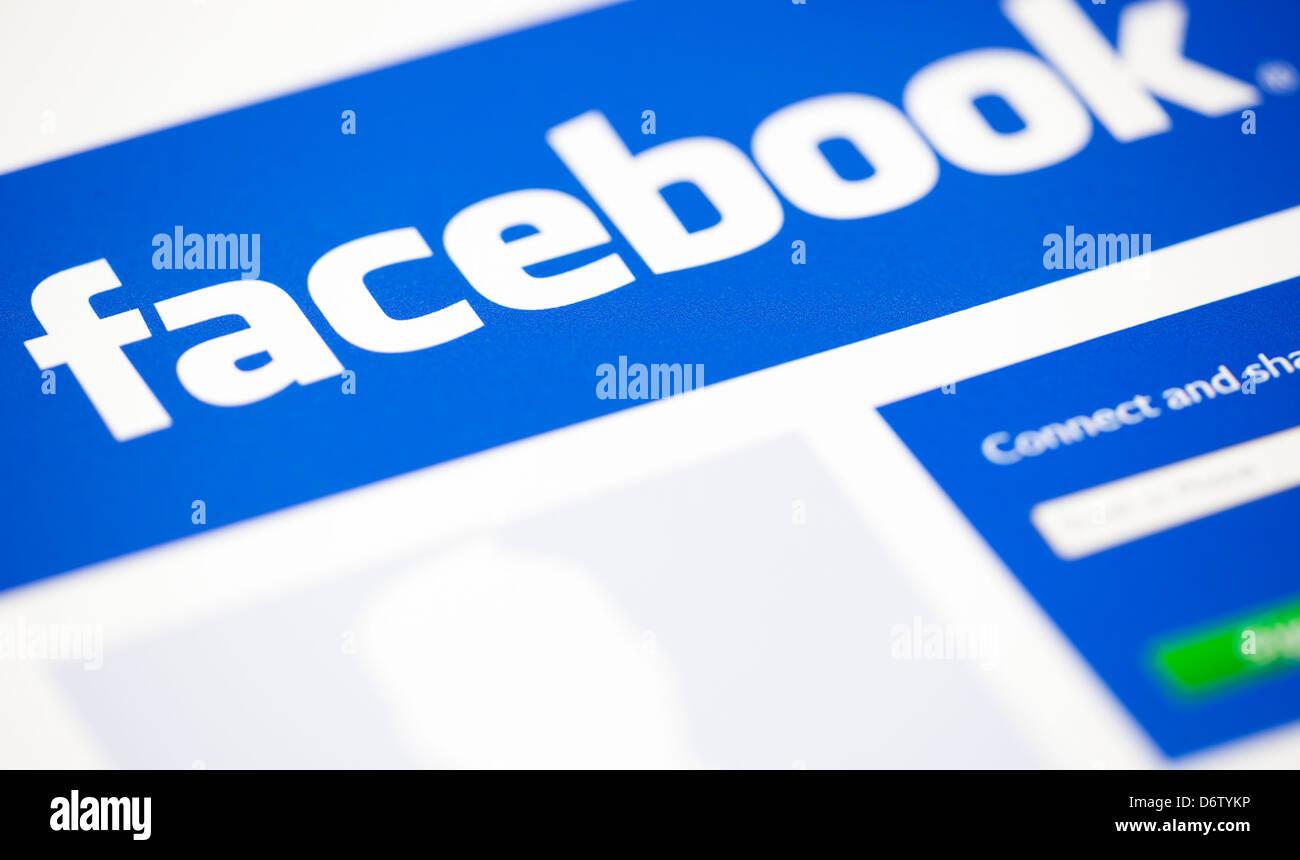 Logos Site web Facebook Photo Stock