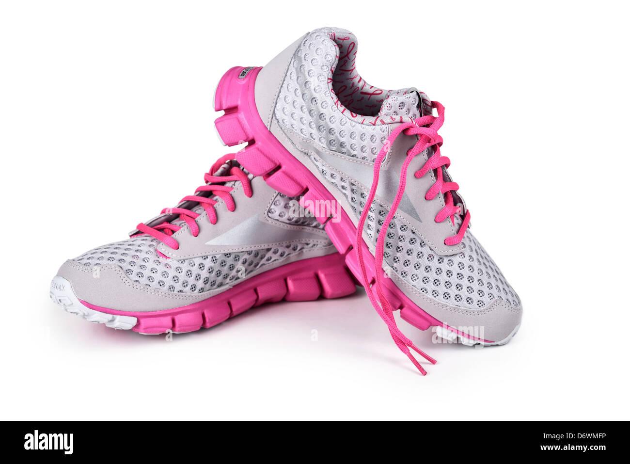 Sneakers, des formateurs, des chaussures de course Photo Stock