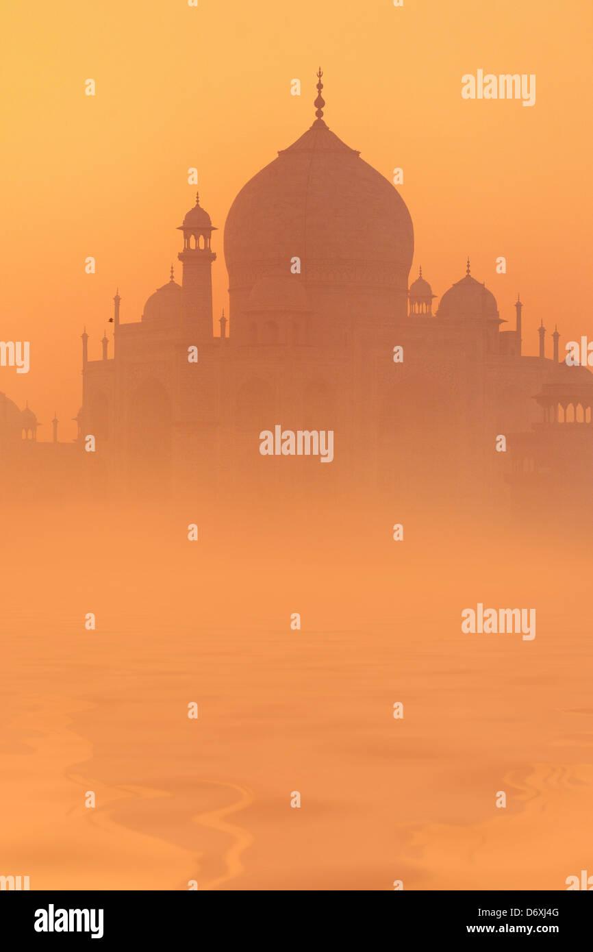 Skyline de Taj Mahal, Agra, Uttar Pradesh, Inde, l'UNESCO Banque D'Images