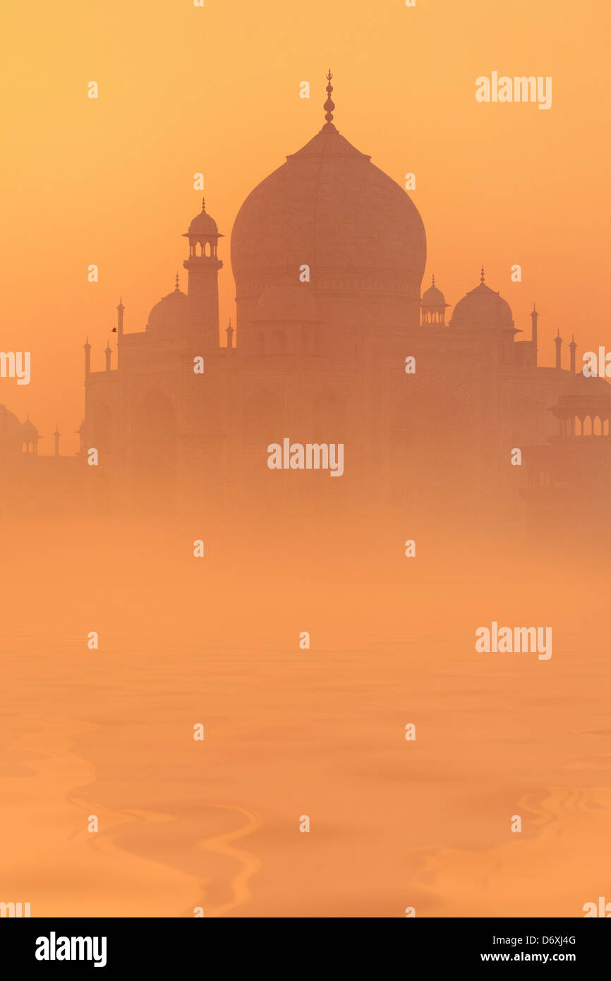 Skyline de Taj Mahal, Agra, Uttar Pradesh, Inde, l'UNESCO Photo Stock