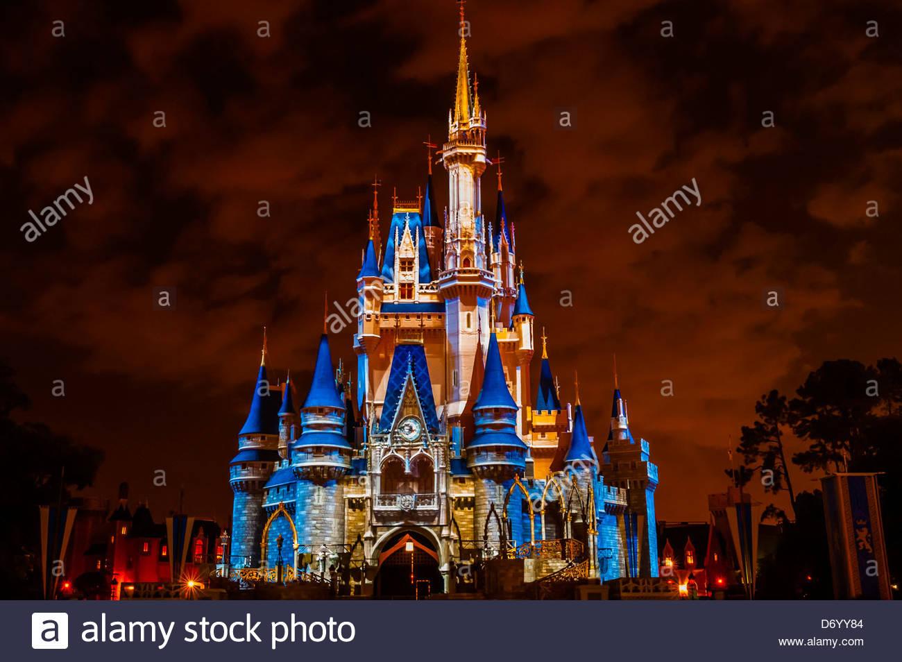 La magie Memories & vous! Château Château de Cendrillon, projection, Magic Kingdom, Walt Disney Photo Stock