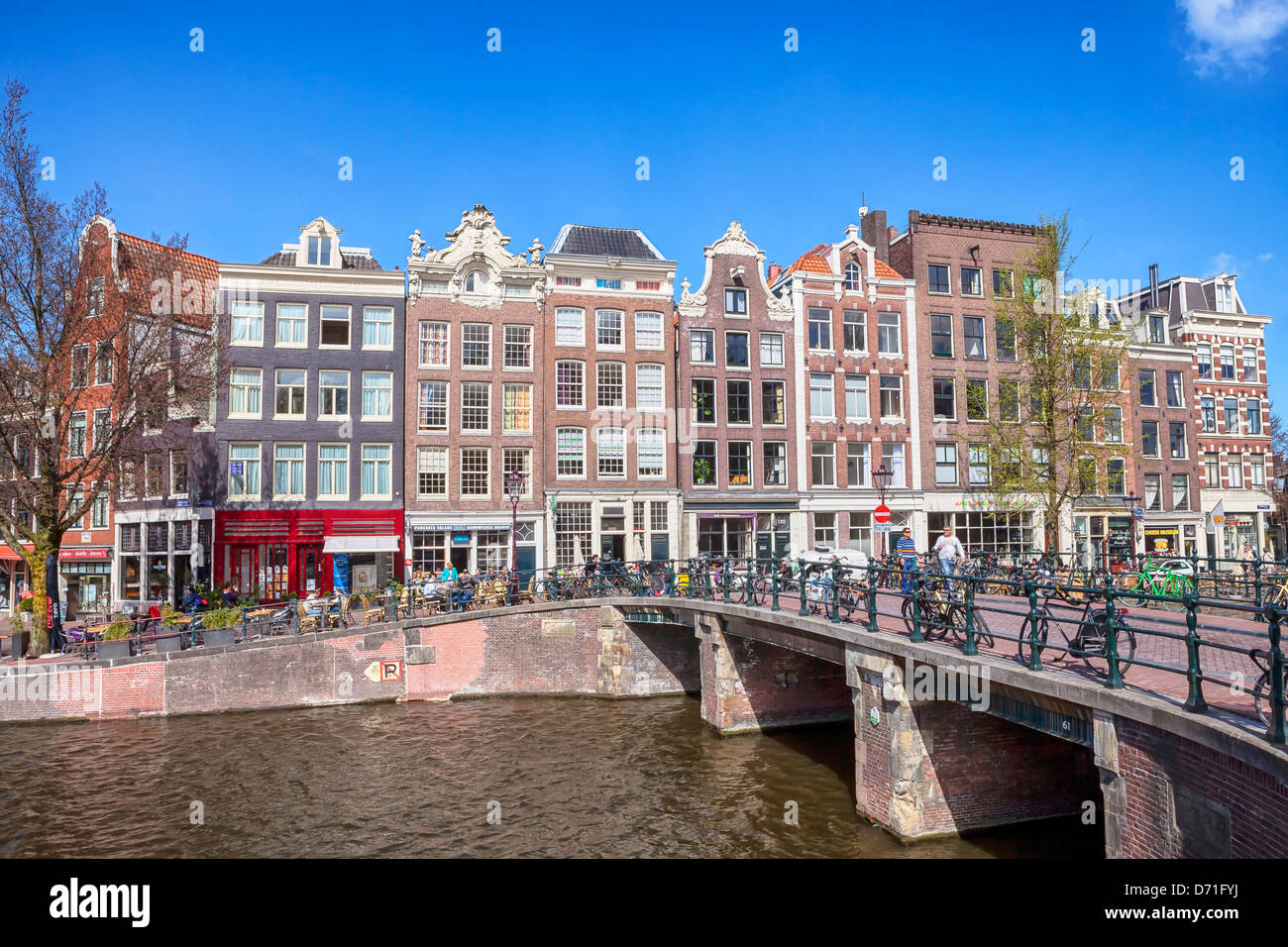 Prinsengracht, Amsterdam, Hollande du Nord, Pays-Bas Photo Stock