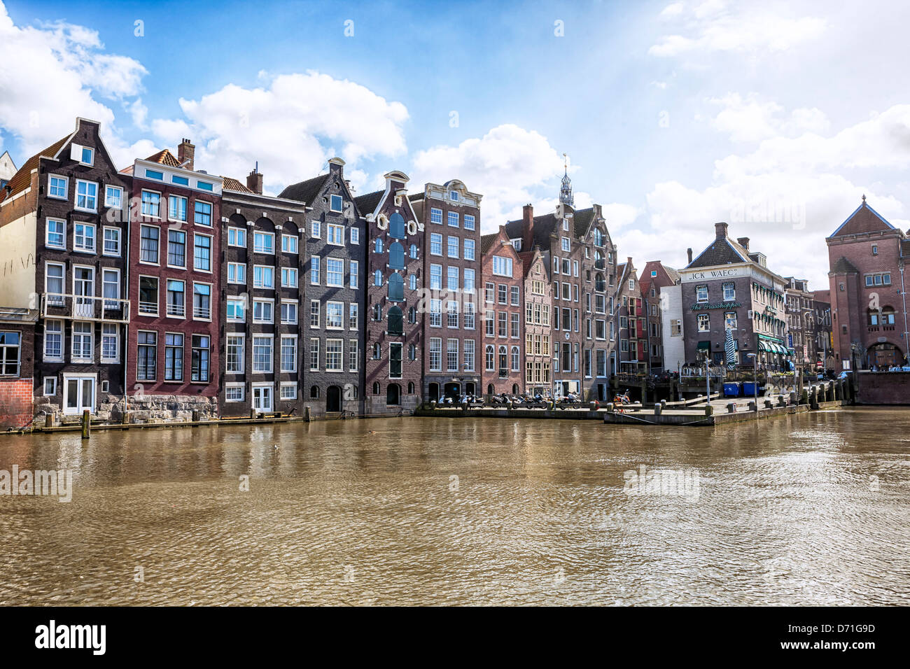 Damrak, Amsterdam, Hollande du Nord, Pays-Bas Photo Stock