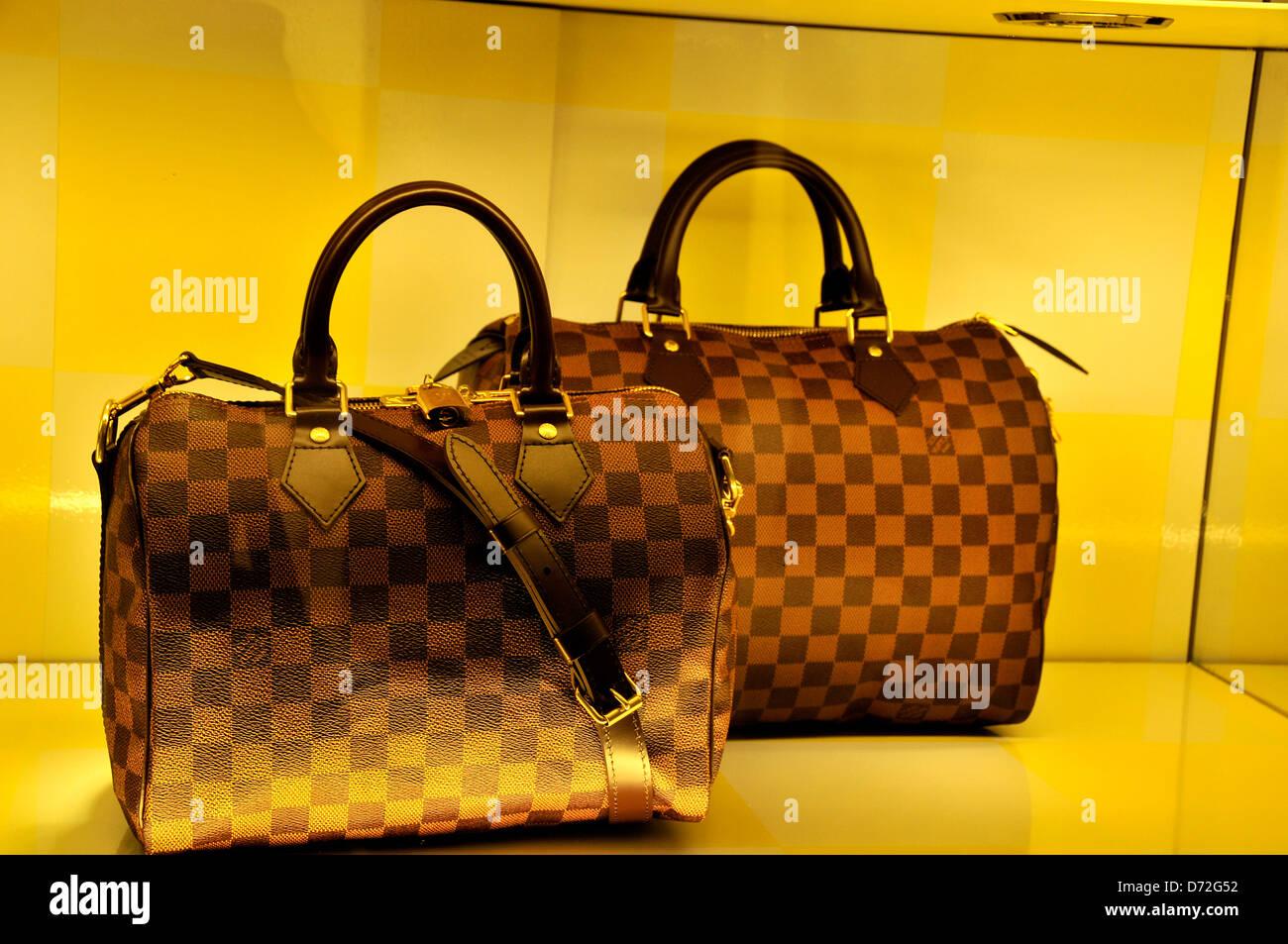 eaf1bea94c Louis Vuitton femme sac à main dans la fenêtre de LV boutique dans le  centre commercial de Dubaï