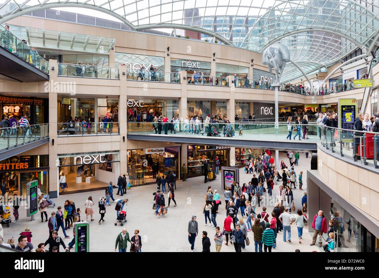 Le nouveau (en 2013) centre commercial Trinity Leeds, Leeds, West Yorkshire, Royaume-Uni Photo Stock