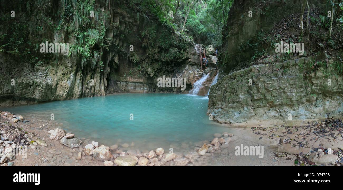 Puerto Plata, République dominicaine, les 27 cascades de Damajagua Banque D'Images