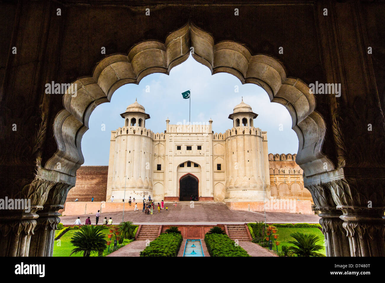 Alamgiri Gate, fort de Lahore, Lahore, Pakistan Photo Stock