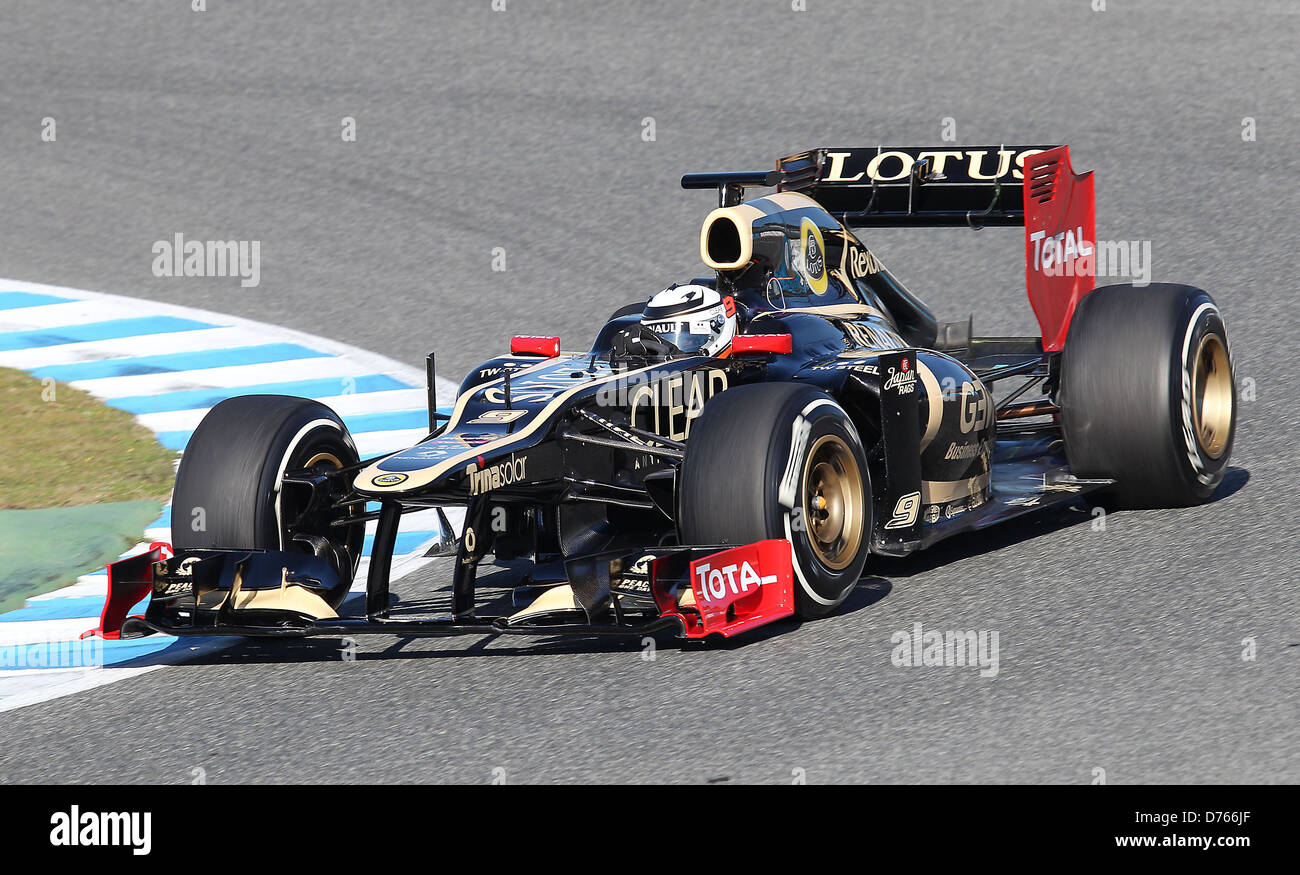 kimi raikkonen finlande lotus renault f1 f1 formule 1 course d 39 essai espagne jerez 07. Black Bedroom Furniture Sets. Home Design Ideas