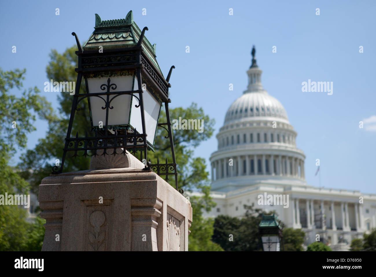 Lanternes chinoises au Capitole, Washington DC Photo Stock