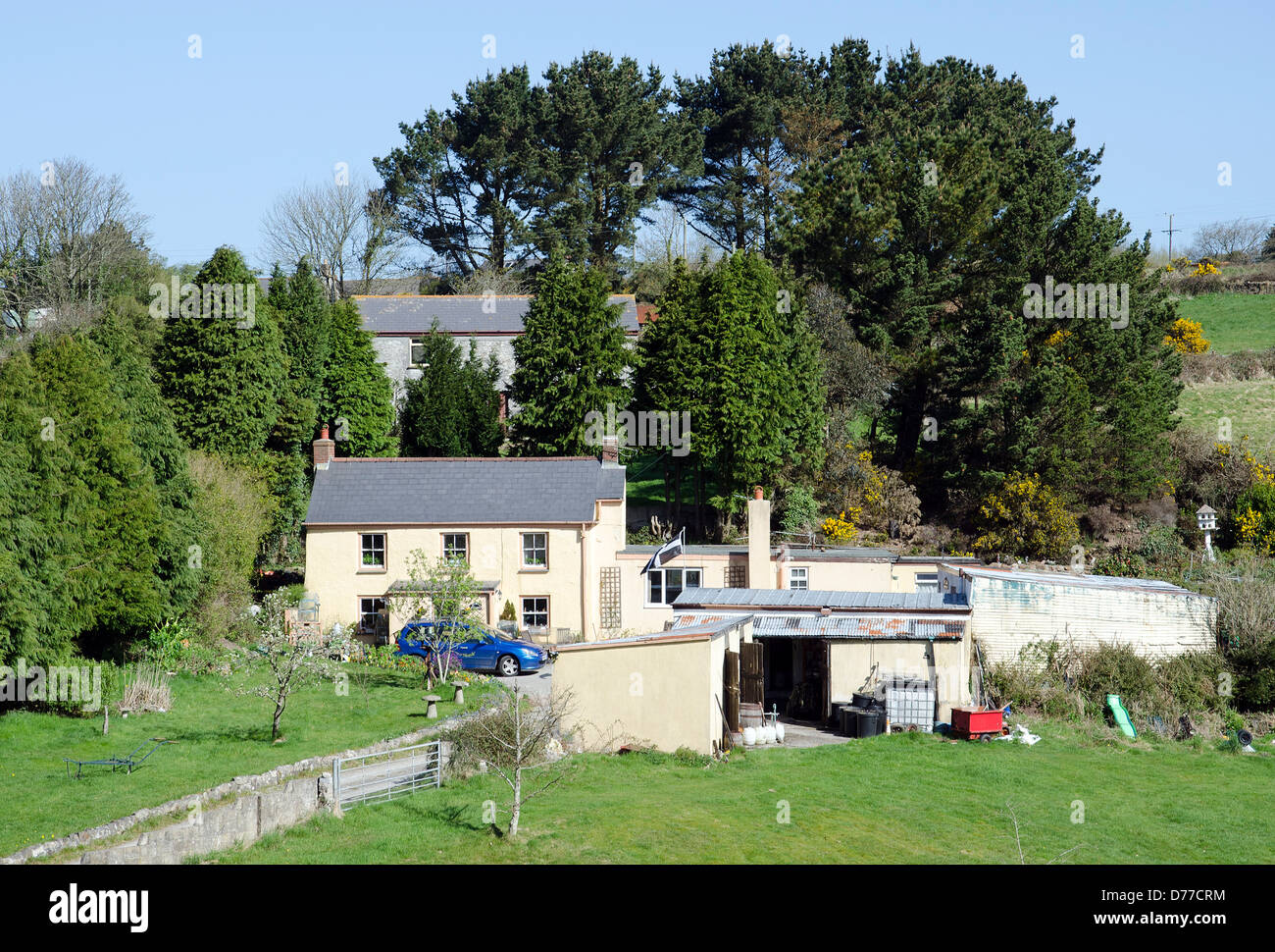 Un chalet dans un emplacement rural près de Truro, Cornwall, UK Photo Stock