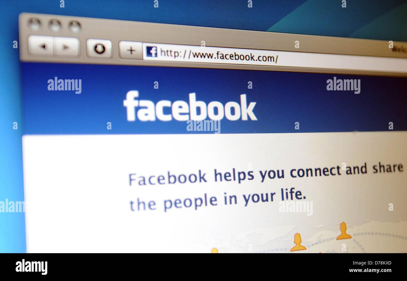 Page d'accueil de Facebook. Photo Stock