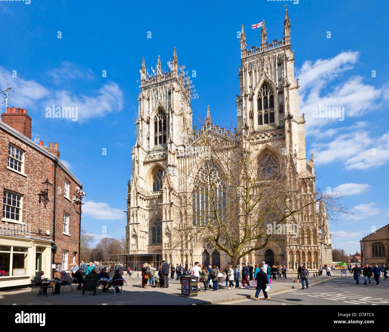 York Minster, la cathédrale gothique, la ville de York, Yorkshire, England, UK, FR, EU, Europe Photo Stock