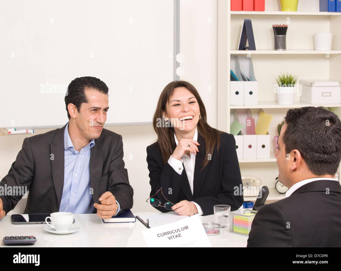 Entretien d'embauche Photo Stock