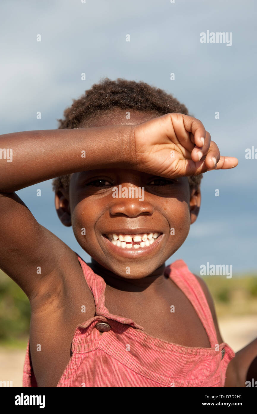 Boy, le lac Niassa, Mozambique Photo Stock