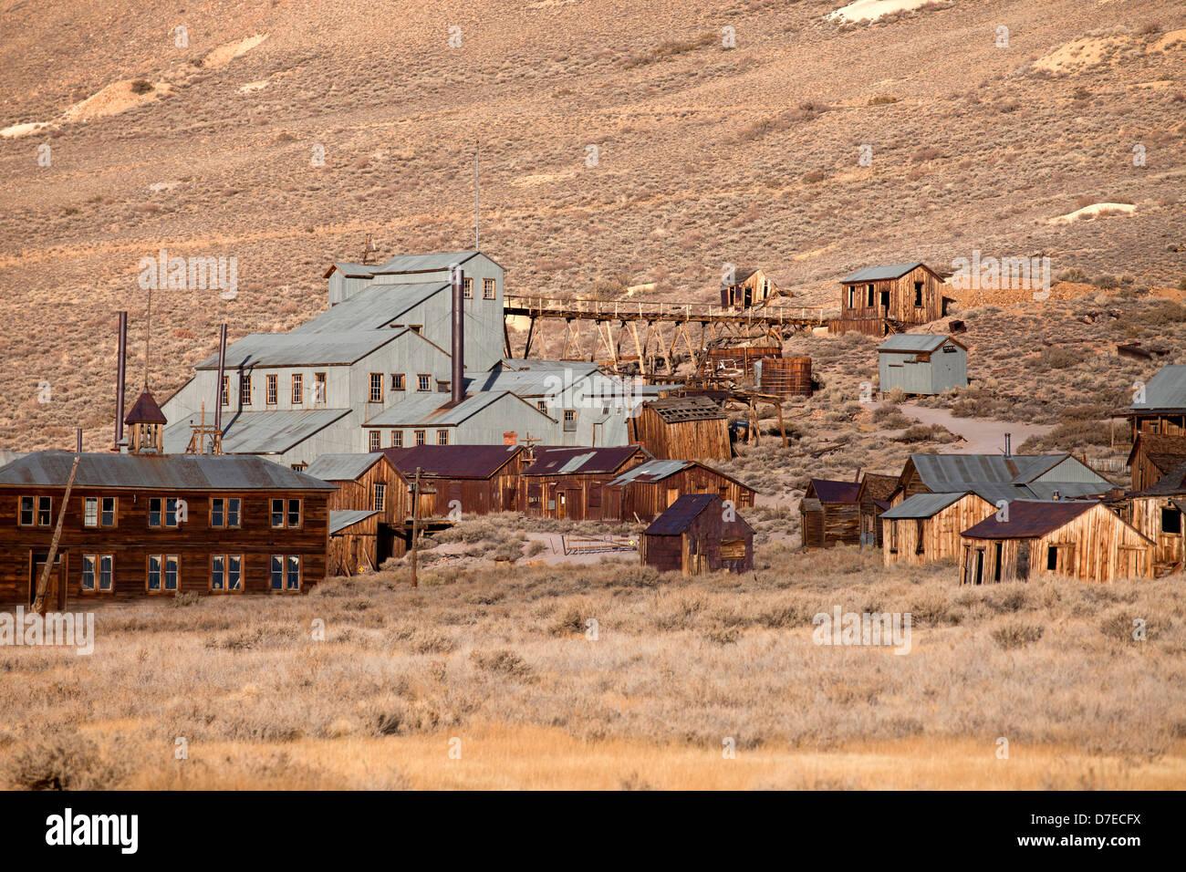 Bodie, ville fantôme de Californie, États-Unis d'Amérique, USA Photo Stock