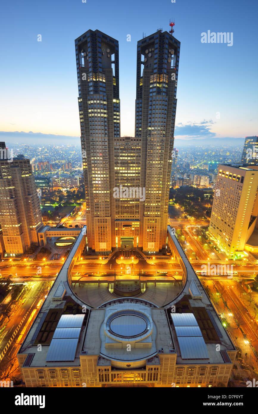 Bâtiment du Gouvernement Métropolitain de Tokyo, Japon Photo Stock