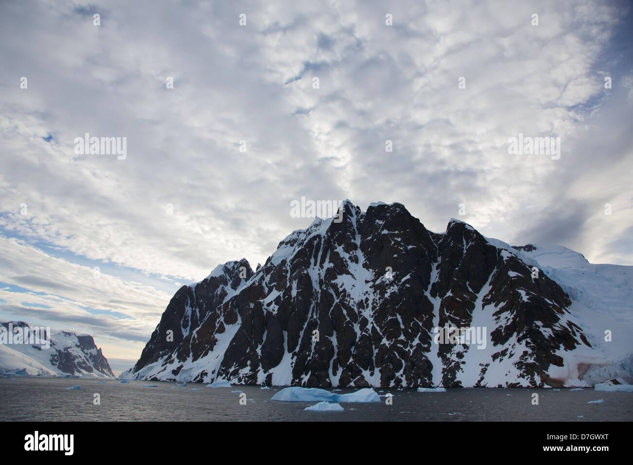 Canal Lemaire, l'Antarctique. Photo Stock