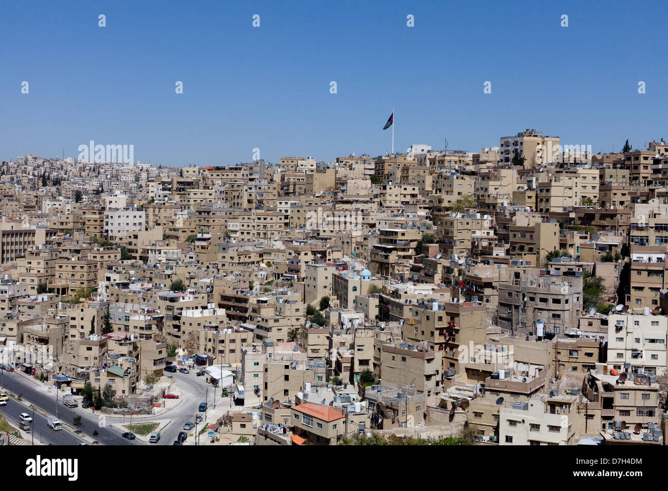 Centre-ville d'AMMAN Photo Stock