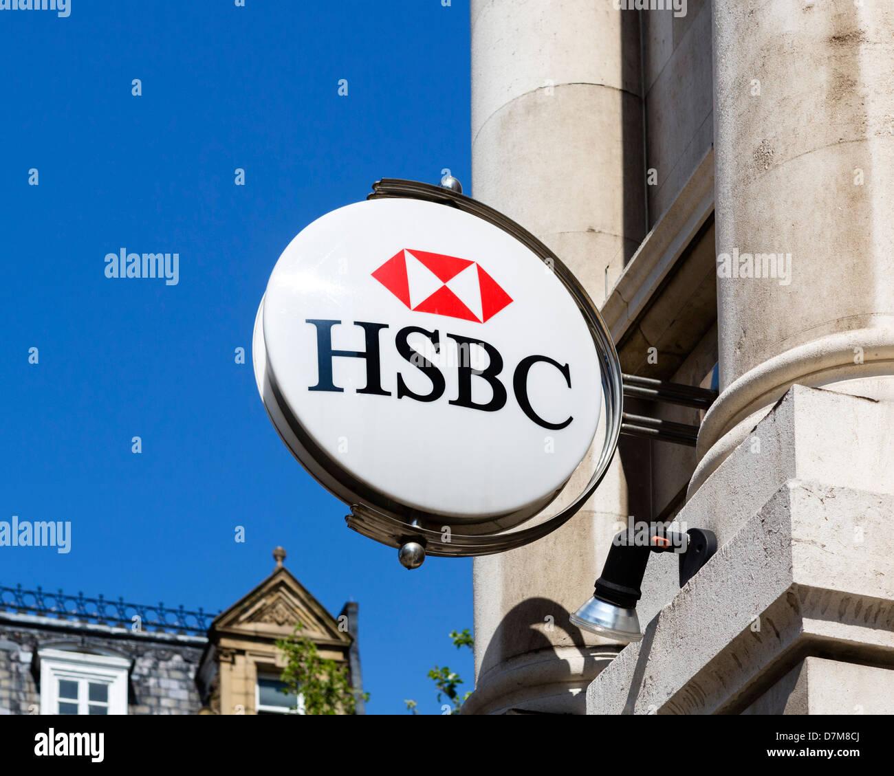 La Banque HSBC à Doncaster, South Yorkshire, Angleterre, Royaume-Uni Photo Stock