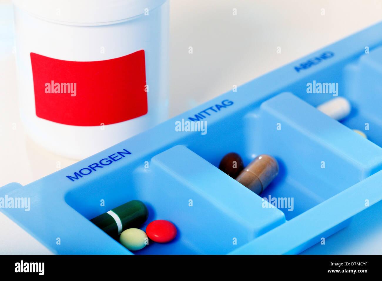 Organisateur de la pilule Photo Stock