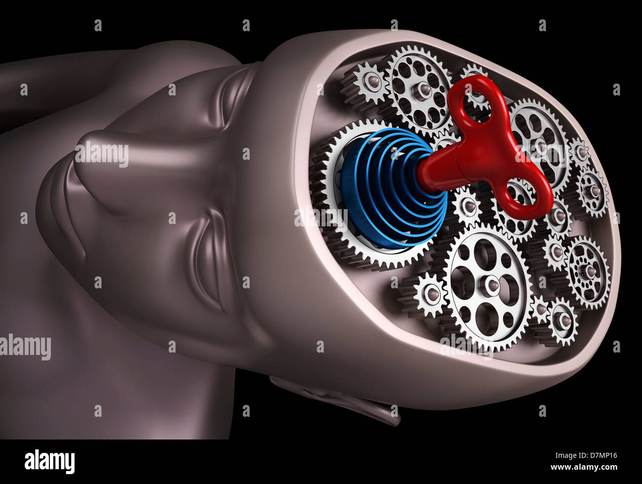 Cerveau Clockwork, artwork Photo Stock