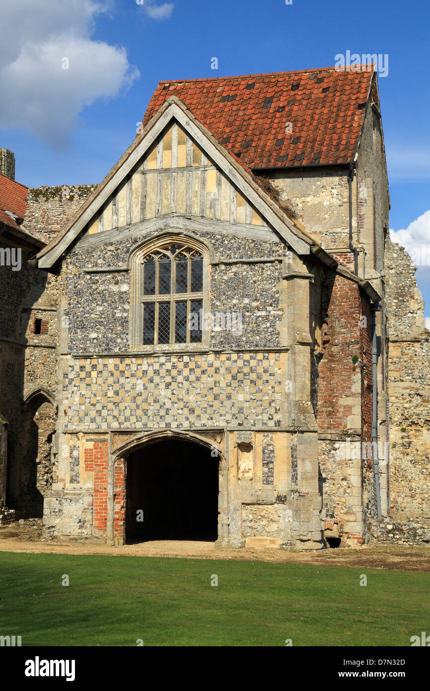 Castle Acre Prieuré, Norfolk, du logement avant, en Angleterre, Royaume-Uni, le monastère médiéval Photo Stock