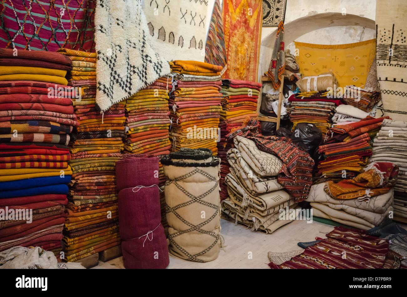 Maroc Marrakech Kilim Tapis Couvertures Et Plaids En Vente Dans