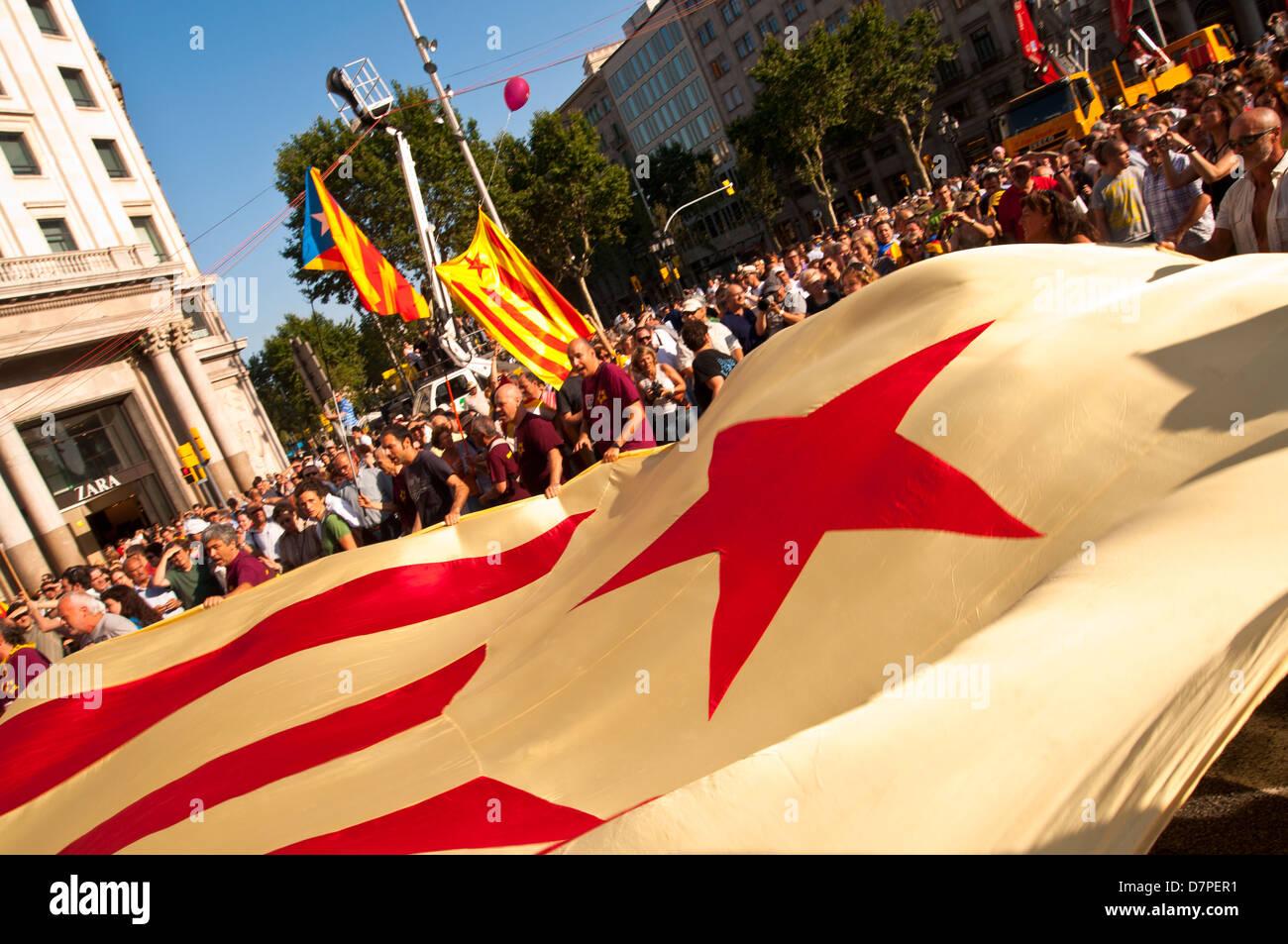 Démonstration, 10 de Julio del 2010, Barcelone, Catalogne, Espagne Banque D'Images