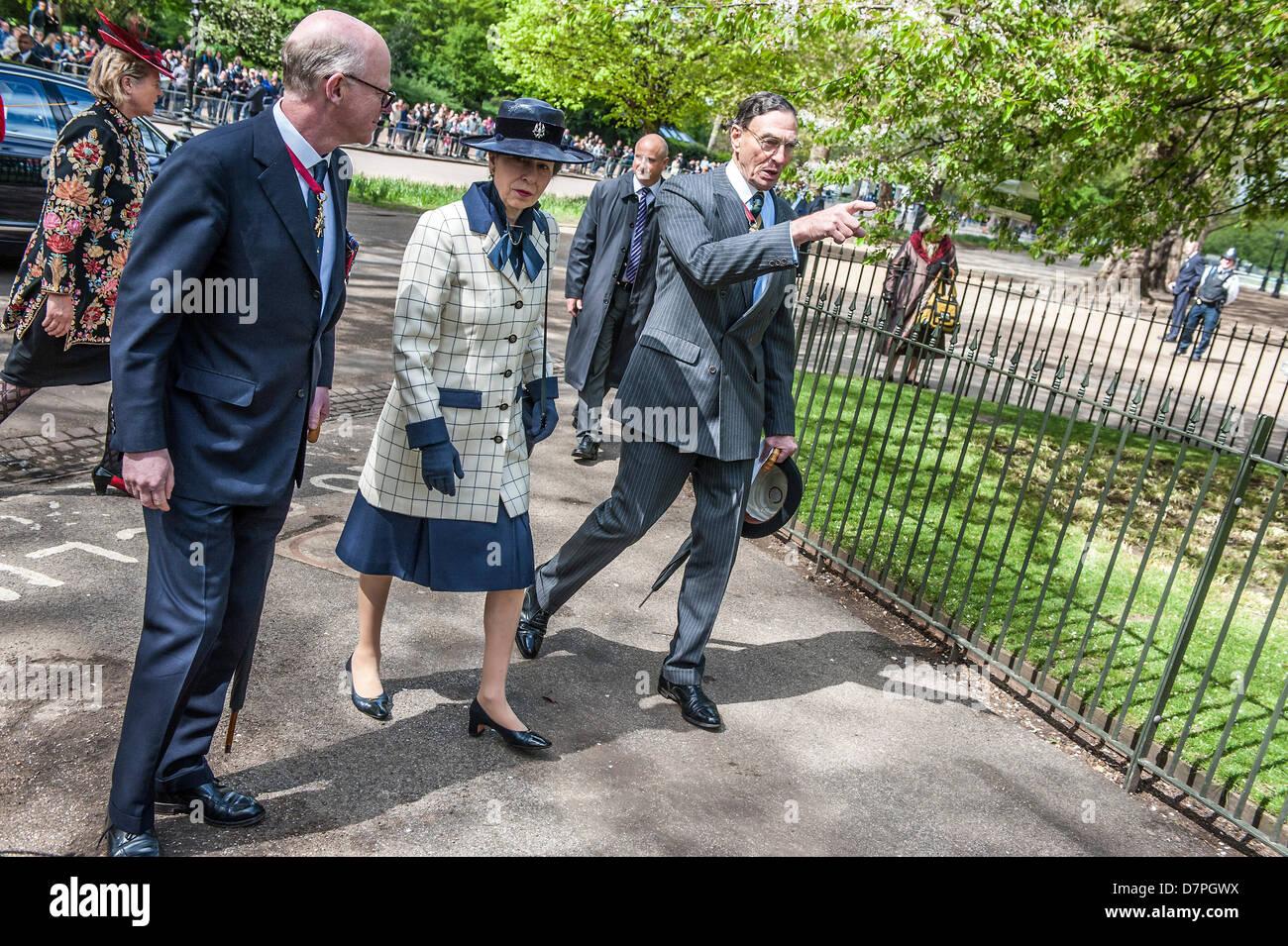 Hyde Park, London, UK 12 mai 2013. Son Altesse Royale la Princesse Royale KG, KT, GCVO, Colonel en Chef du King's Photo Stock