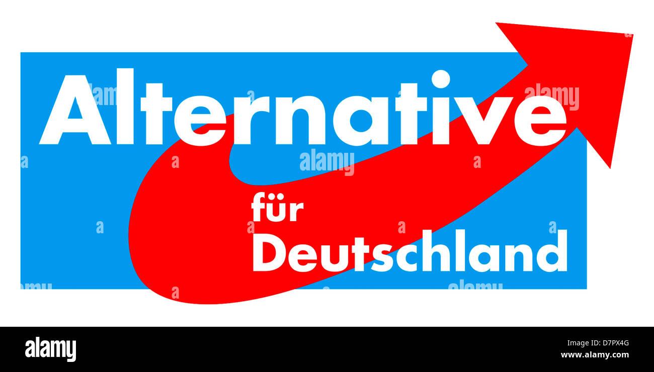 Logo du parti politique allemand alternative pour l'Allemagne l'AfD. Photo Stock