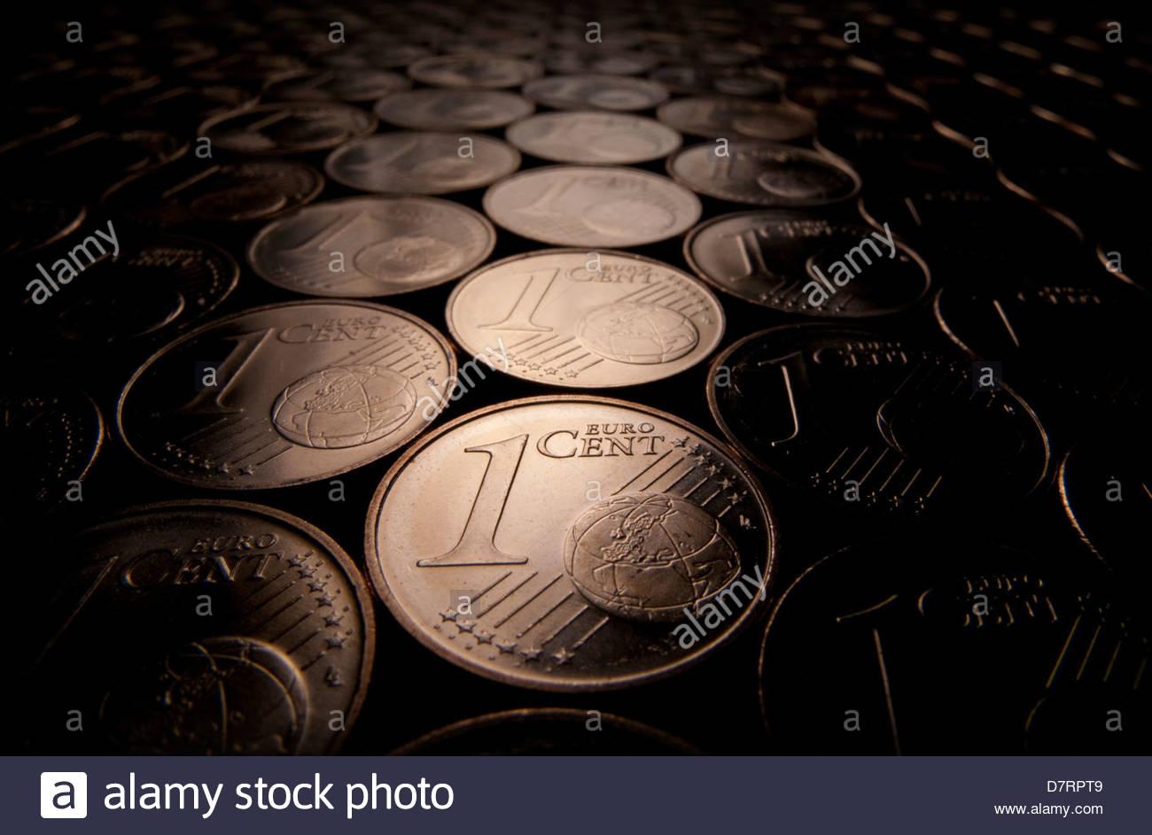 Un cent pièces en euro Photo Stock