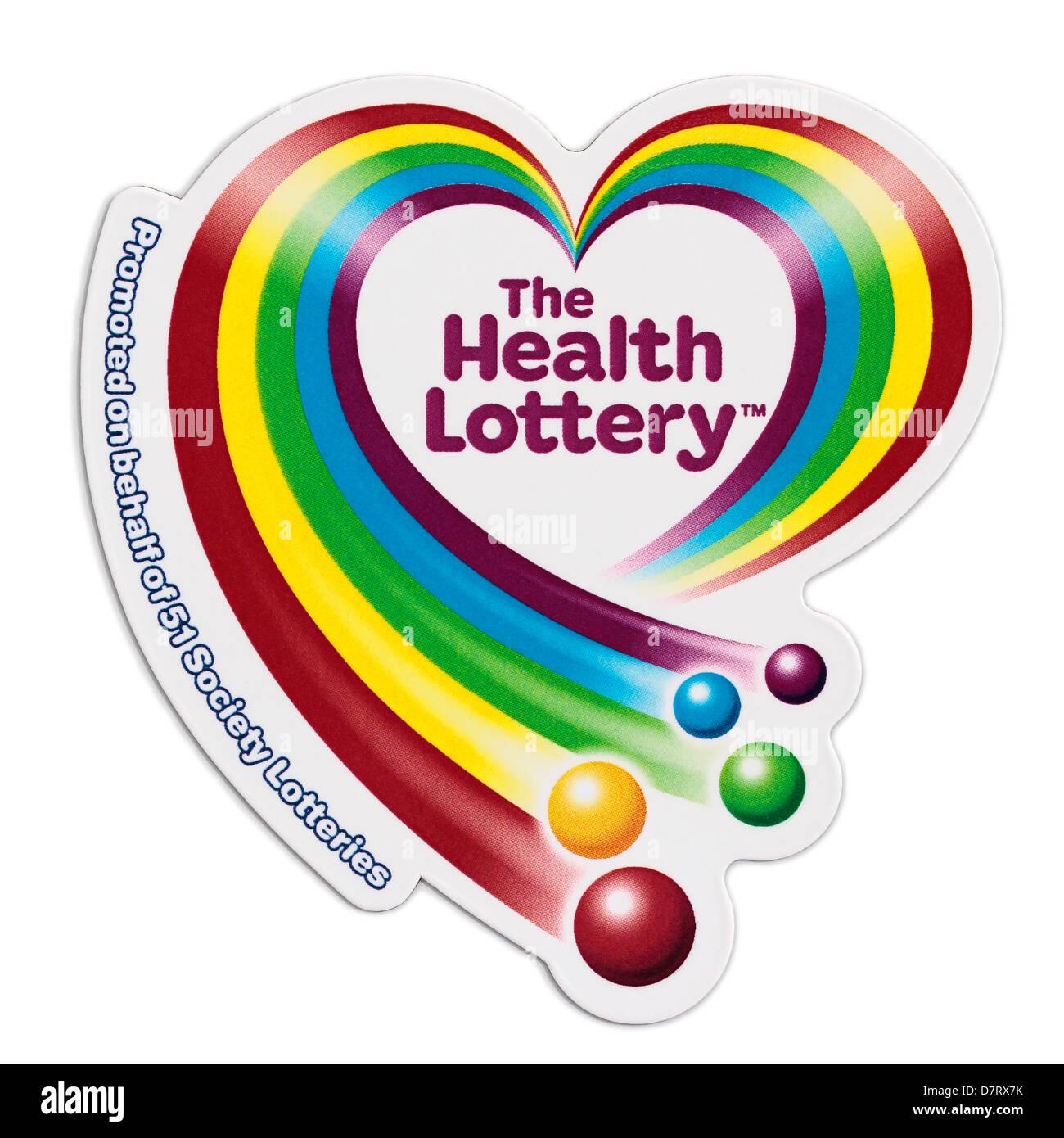 La Loterie Santé aimant frigo Photo Stock