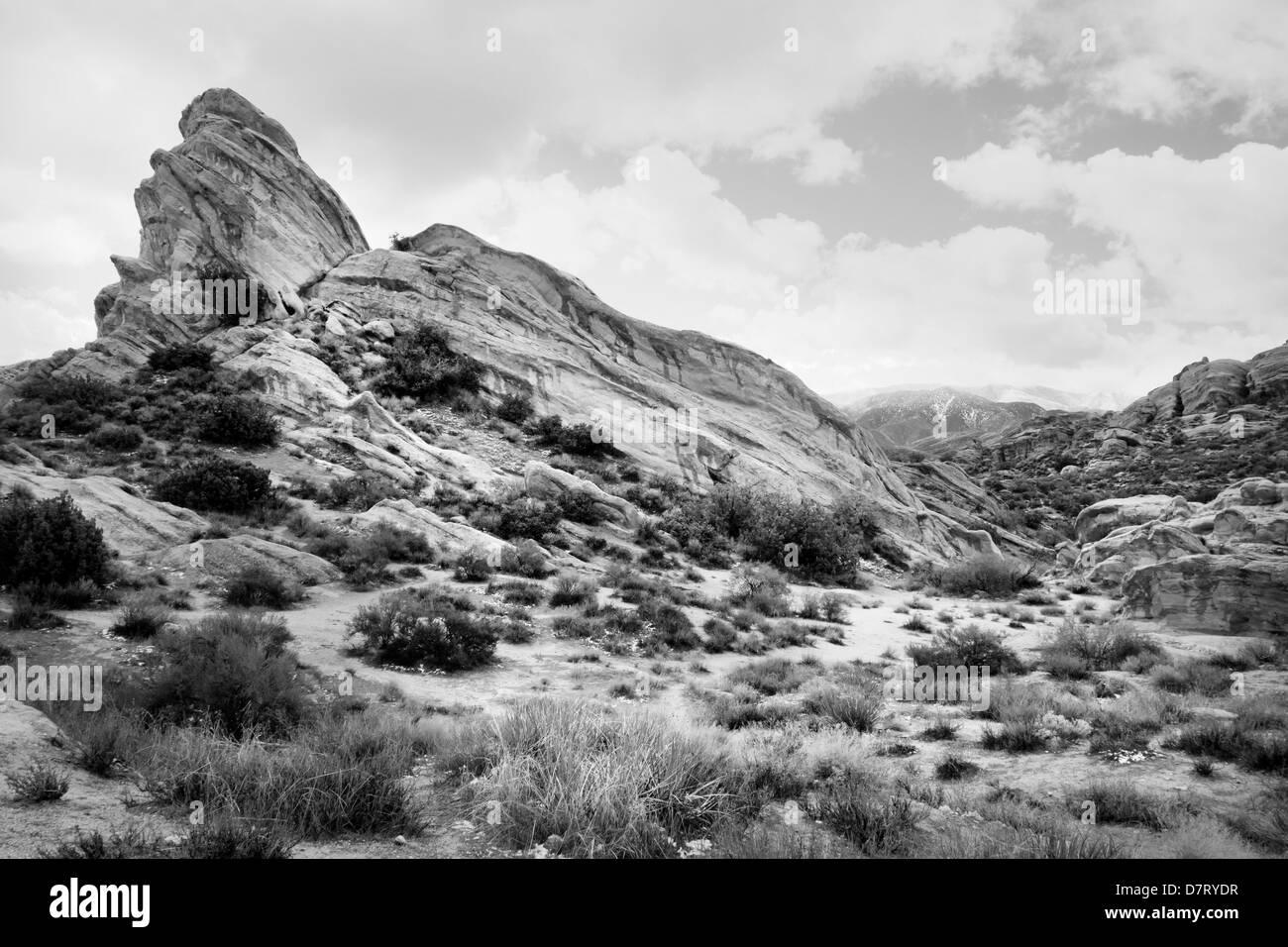 Vasquez Rocks le long du tremblement de terre de San Andreas problème dans le Santa Clarita Valley, près Photo Stock