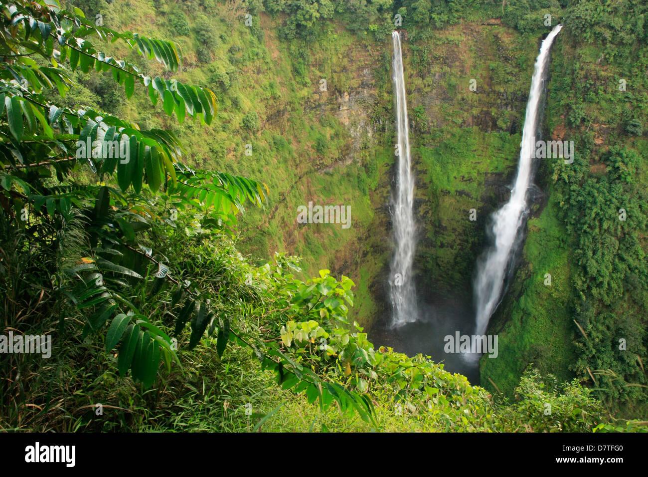 Cascade de Tad Fane, Plateau des Bolavens, Laos, Asie du sud-est Banque D'Images