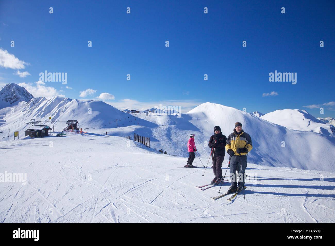 Vue de dos rond, La Plagne, Savoie, Alpes, France Photo Stock