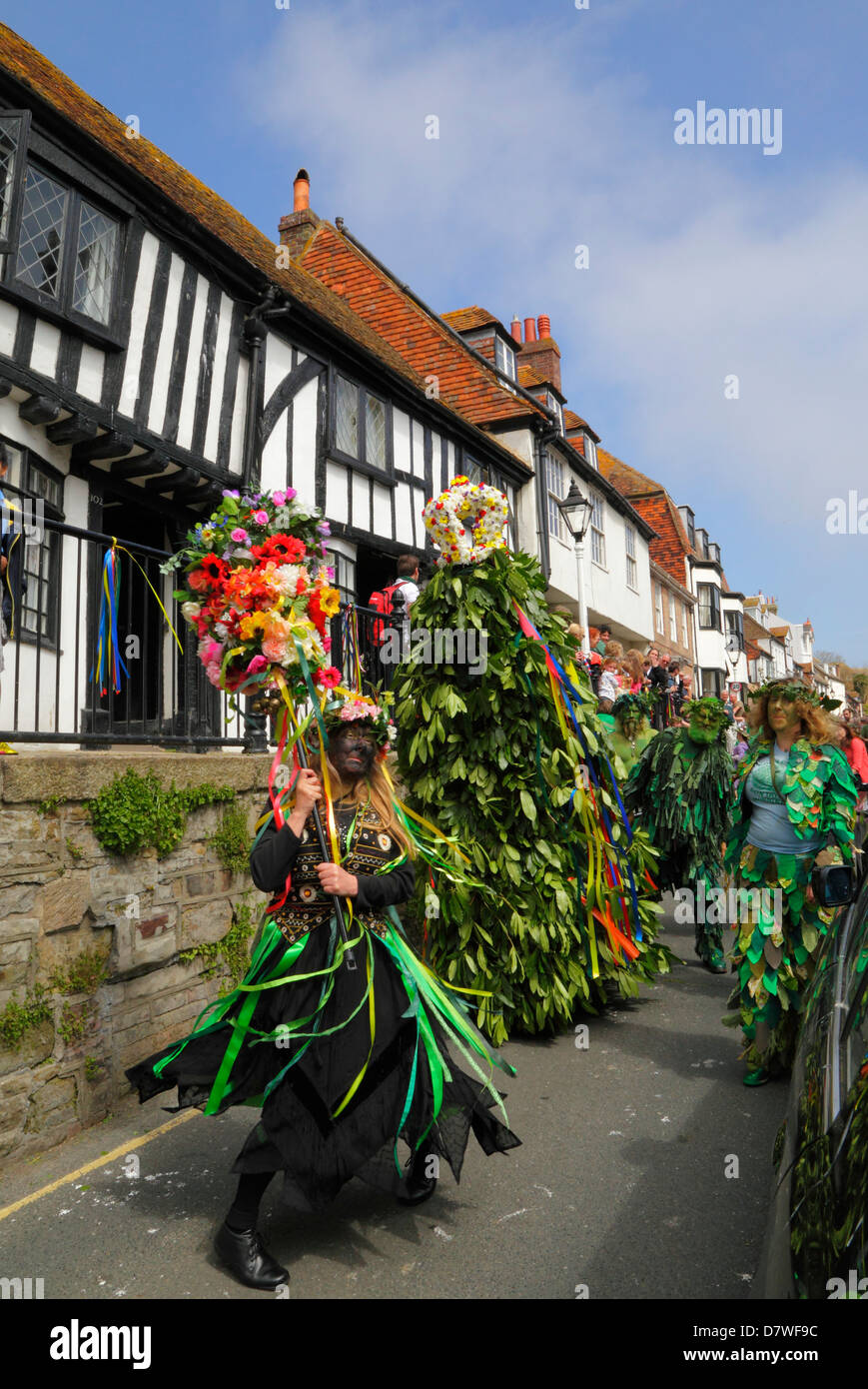Jack Hastings-dans-le-vert peuvent Day Parade East Sussex England UK GO Photo Stock