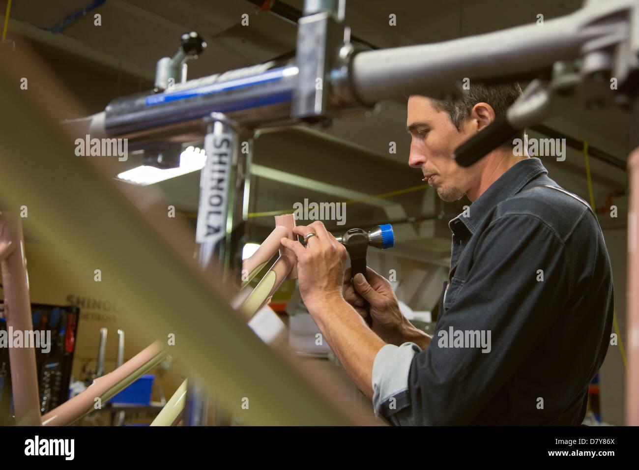 Fabrication de bicyclettes à Detroit Photo Stock