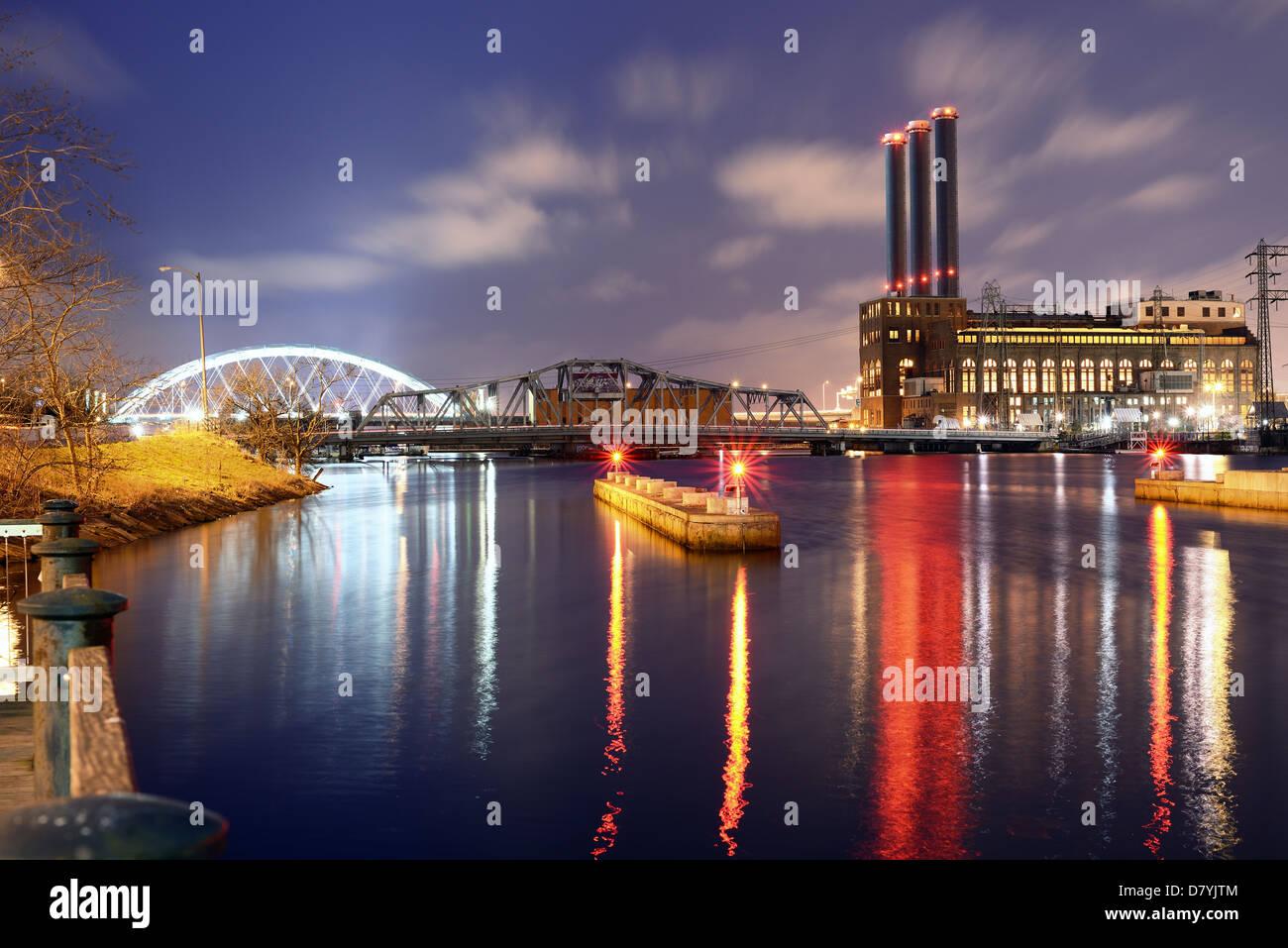 Providence River à Providence, Rhode Island Photo Stock