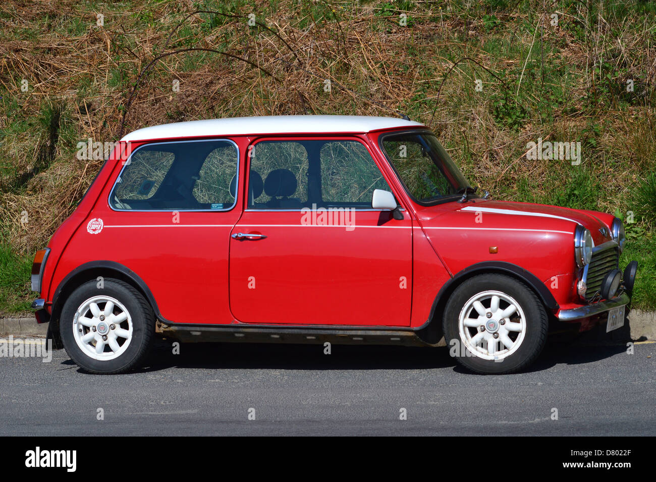 Mini Cooper Auto Automobile Voiture Classique Rouge Blanc Ditalien