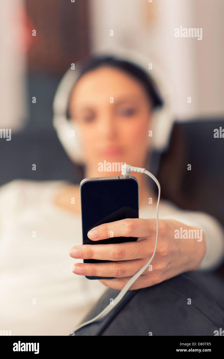 Lecteur audio net au premier plan Photo Stock