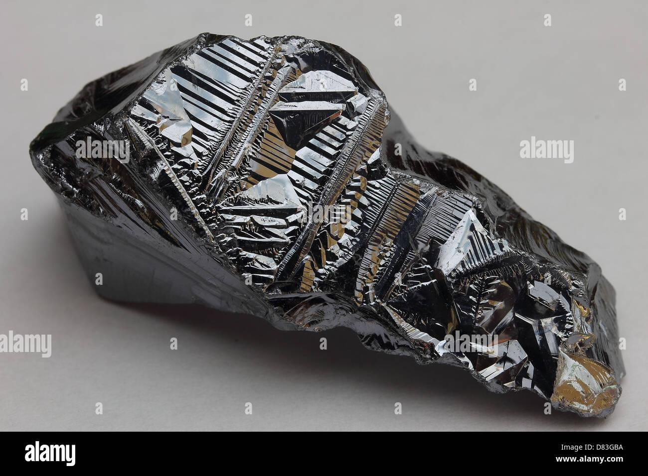 Le silicium pur non métalliques - élément essentiel à l'industrie de l'informatique Photo Stock