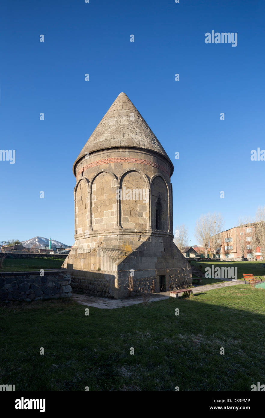 Tombeau seldjoukide anonyme tower, Erzeroum, Turquie Photo Stock