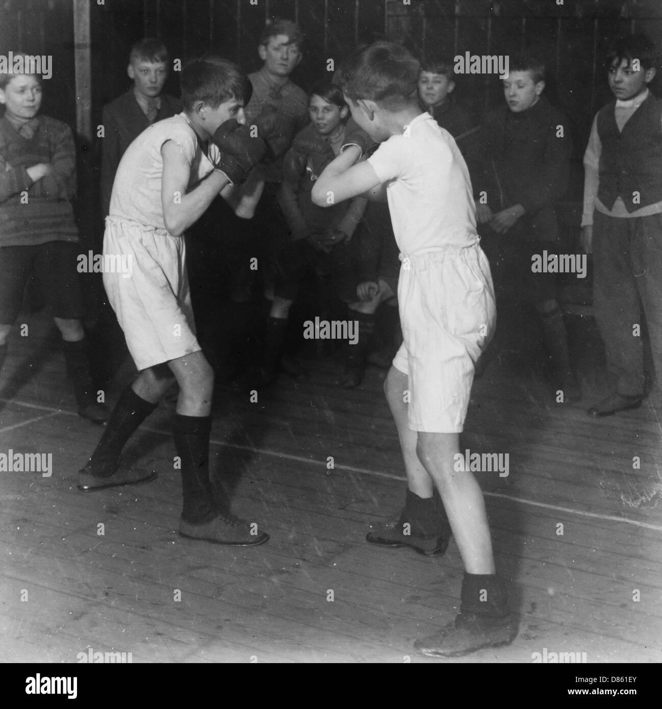 Boys Club de boxe, Mars 1929 Photo Stock