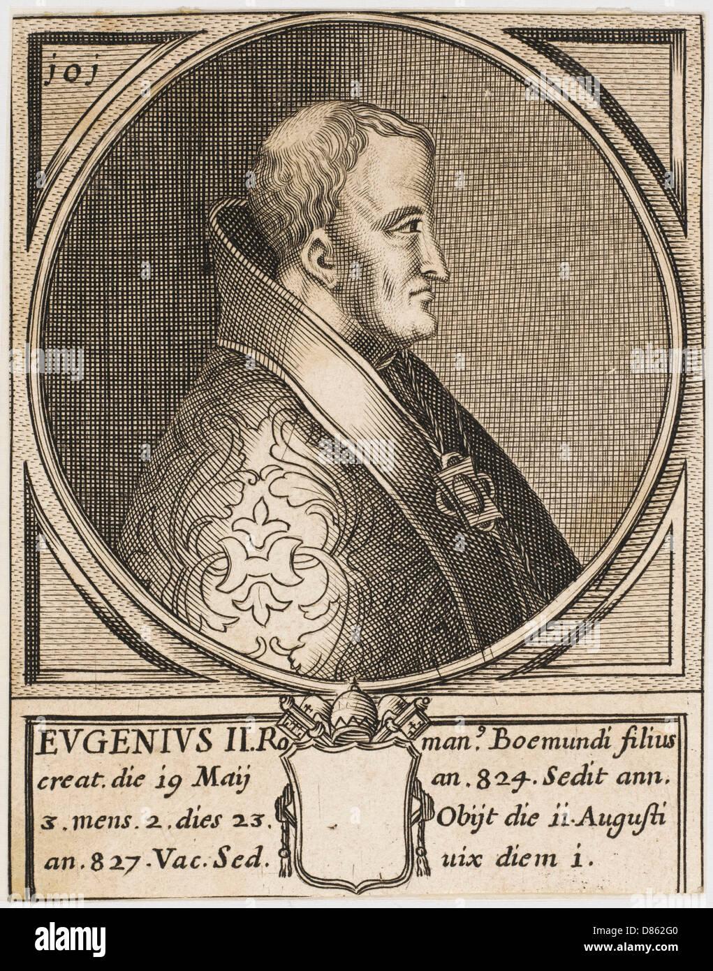 Le Pape Eugène ii Banque D'Images